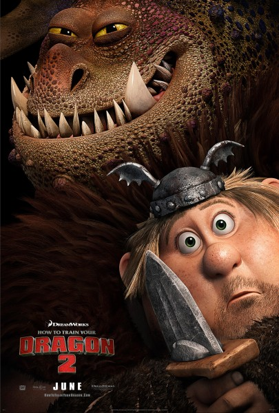 Fishlegs and Meatlug from How to Train Your Dragon 2 movie wallpaper
