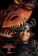 Snotlout and Hookfang the Monstrous Nightmare from How to Train Your Dragon 2 movie wallpaper