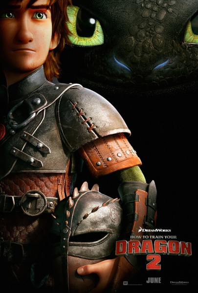 Hiccup and Toothless the nigh fury dragon from How to Train Your Dragon 2 movie wallpaper