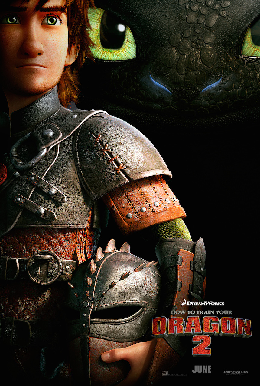 Hiccup And Toothless The Nigh Fury Dragon From How To Train Your 2 Movie Wallpaper