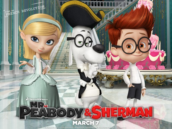 Mr. Peabody and Sherman in France animated movie wallpaper