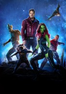 main cast from Marvel's Guardians of the Galaxy featuring Star Lord, Rocket Raccoon, Gamora, Drax and Groot