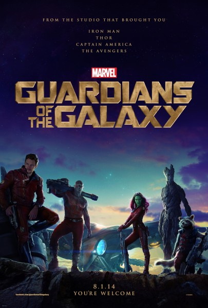 main cast from Marvel's Guardians of the Galaxy wallpaper featuring Star Lord, Gamora, Rocket Raccoon, Groot and Drax