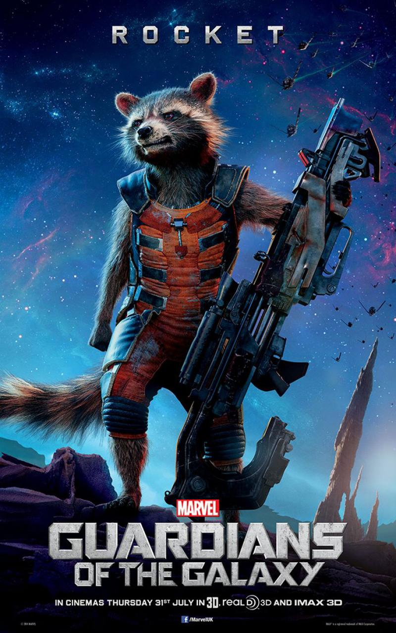 Guardians of the galaxy rocket raccoon wallpaper png 800 215 1280