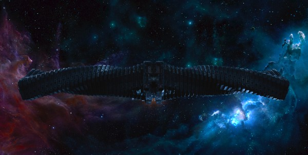 Ronan's ship the Dark Aster from Marvel's Guardians of the Galaxy movie wallpaper