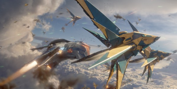 space ships from Marvel's Guardians of the Galaxy movie wallpaper