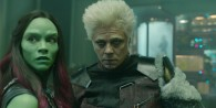 Gamora and The Collector from Marvel's Guardians of the Galaxy movie wallpaper