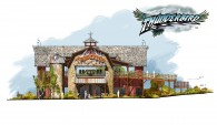 Thunderbird roller coaster station at Holiday World theme park