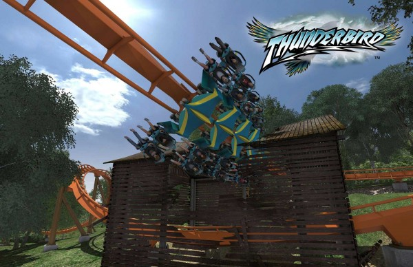 Thunderbird roller coaster at Holiday World theme park