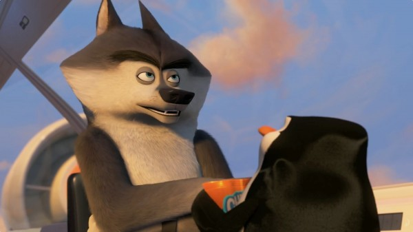 Classified the wolf from The Penguins of Madagascar movie wallpaper