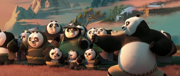 Po and pandas from Kung Fu Panda 3 - DreamWorks CG animated movie wallpaper
