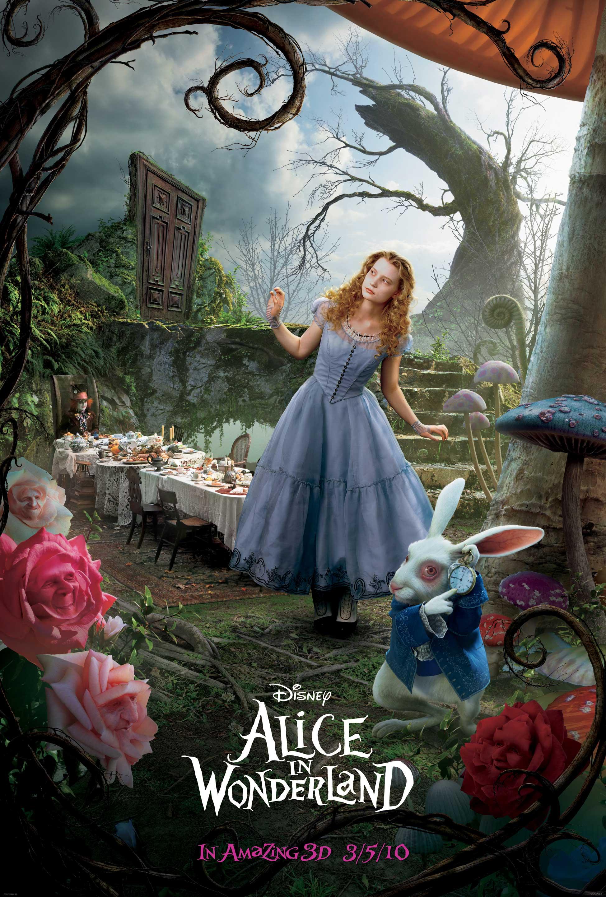 Alice And The White Rabbit Movie Poster Desktop Wallpaper