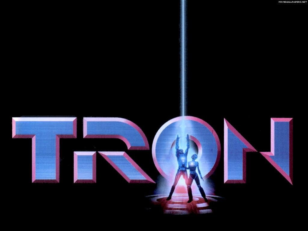 Tron 1982 Movie Logo Desktop Wallpaper
