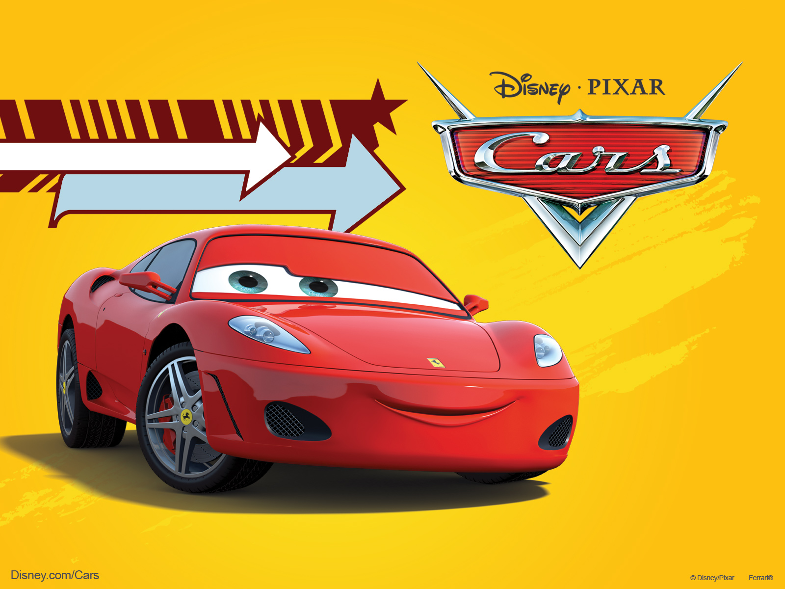 Michael Schumacher As A Ferrari F430 In Pixars Cars Movie Desktop