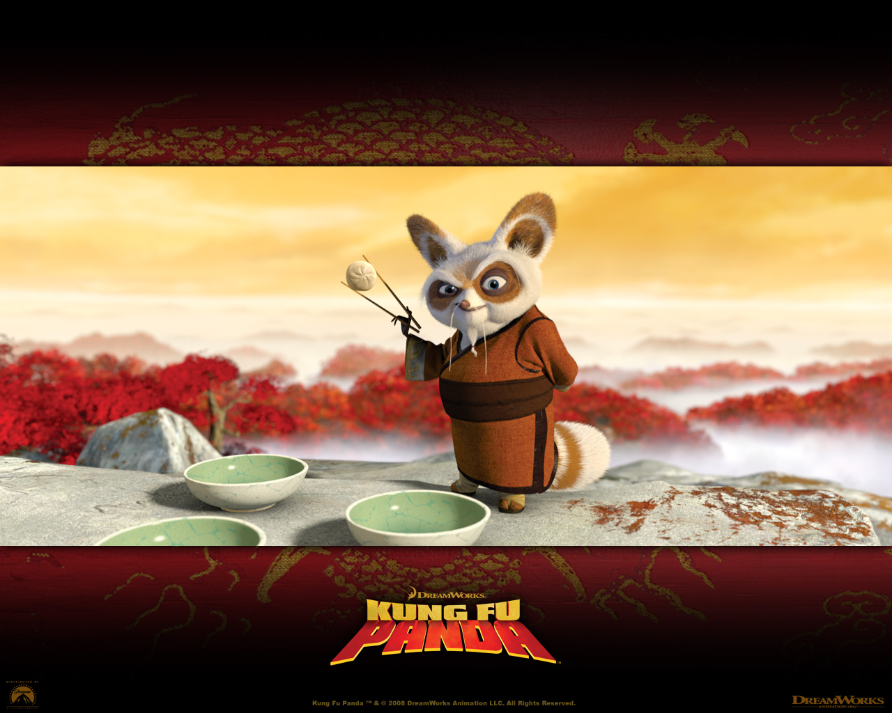 Master Shifu The Red Panda From Kung Fu Panda Movie Desktop Wallpaper
