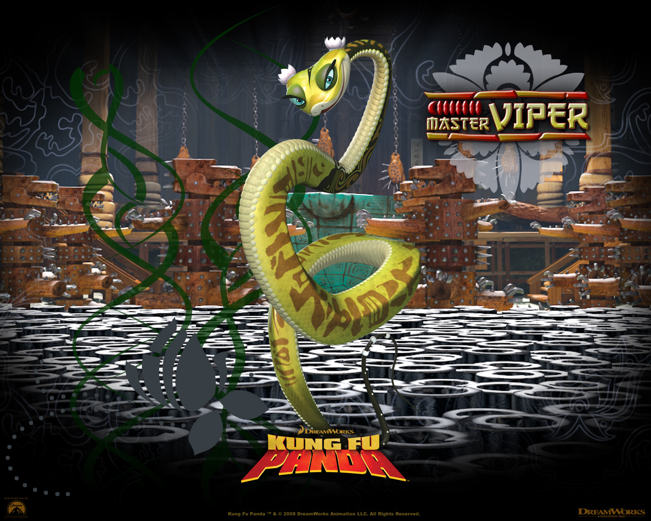 Viper From Kung Fu Panda Movie Desktop Wallpaper