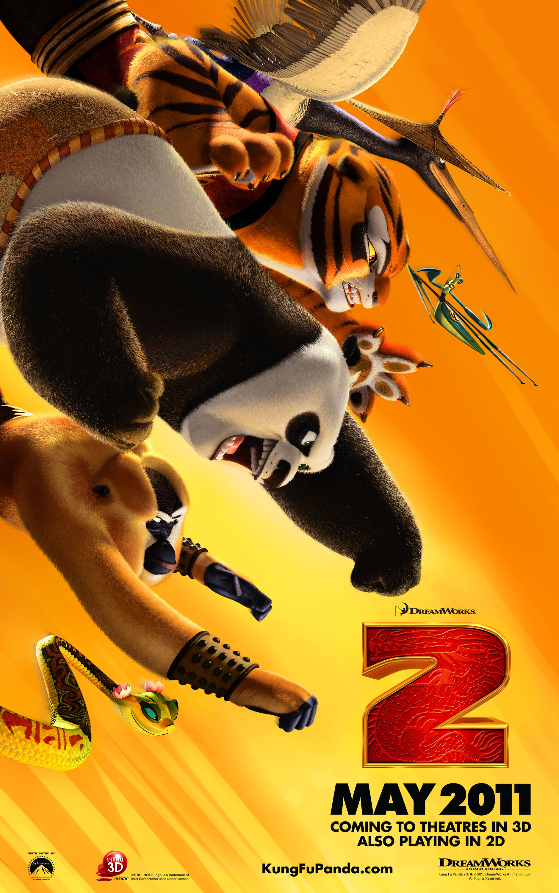 Movie Poster From Kung Fu Panda 2 Desktop Wallpaper
