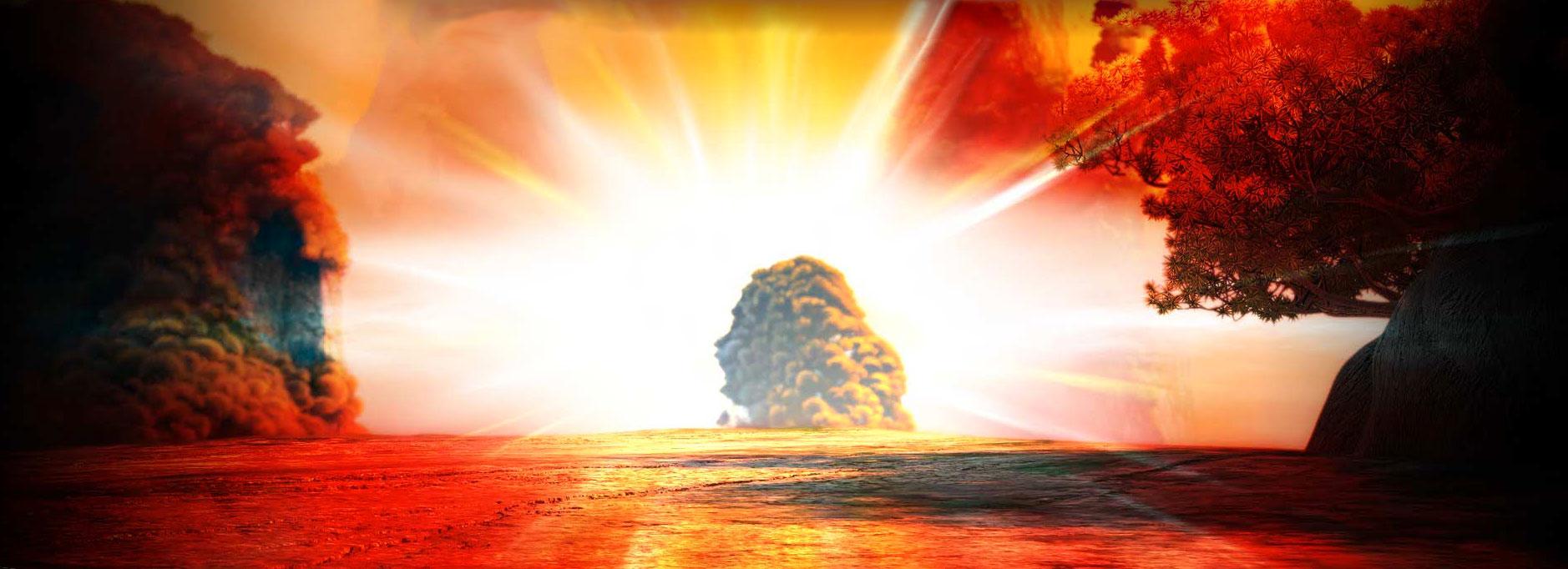Golden Sunrise From Kung Fu Panda 2 Desktop Wallpaper