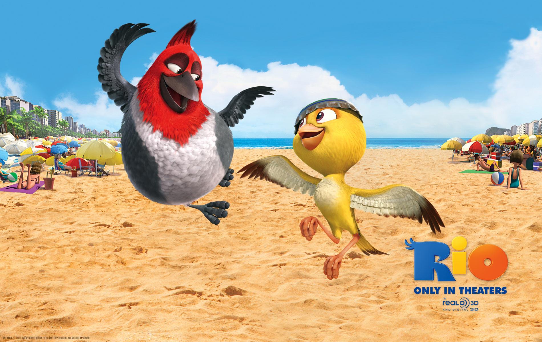 Pedro And Nico On The Beach In Rio Desktop Wallpaper