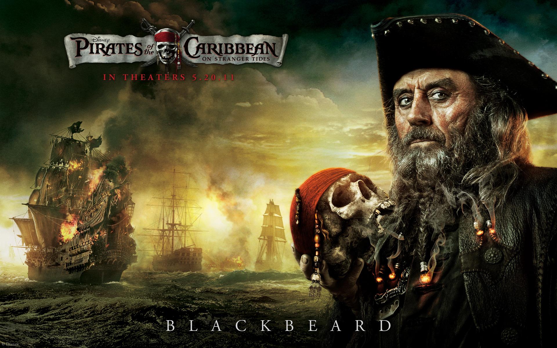 Blackbeard From Pirates Of The Caribbean Desktop Wallpaper