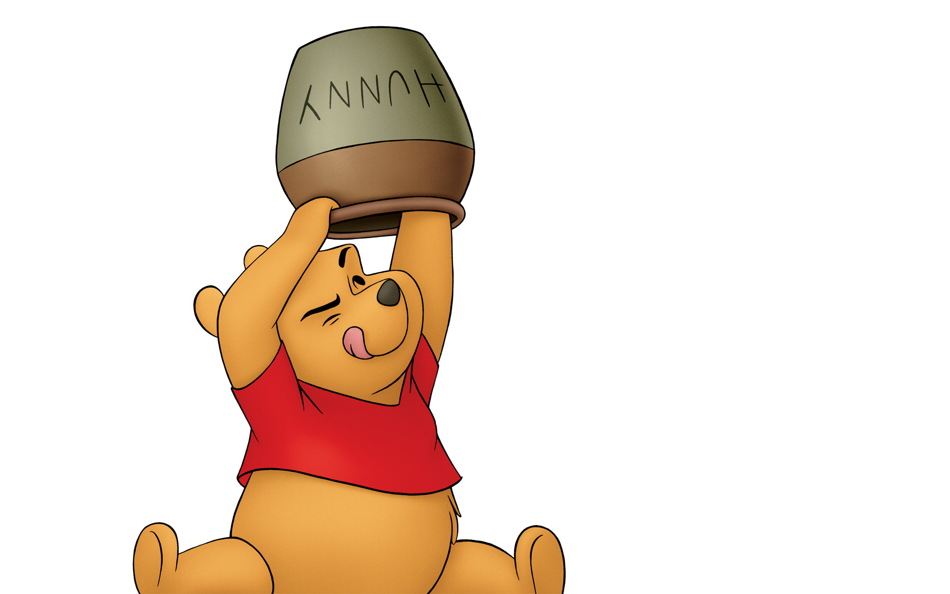 Winnie The Pooh With Hunny Desktop Wallpaper