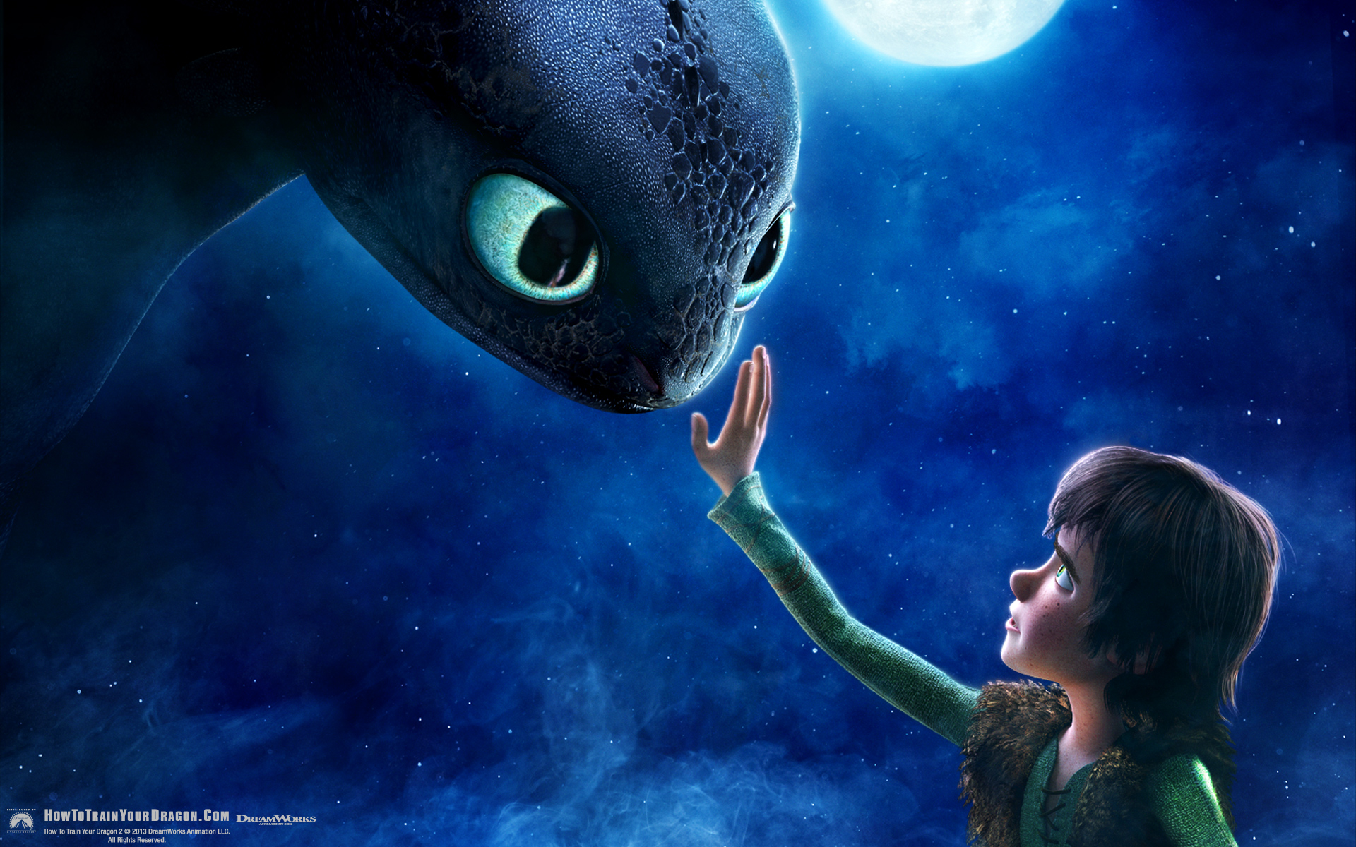 Hiccup And Toothless From How To Train Your Dragon Desktop Wallpaper